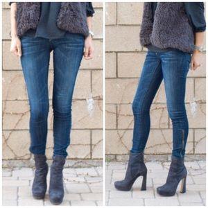 Current/Elliott Cropped Legging Zip Jeans U0360